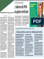 30-11-16 Destaca Monterrey ahorro de $94 millones de pesos en gasto corriente