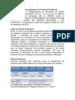 Proceso de Regularización de Minería Artesanal