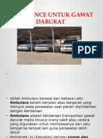 Ambulance Untuk Gawat Darurat