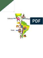 Mapa Azteca Maya Inca