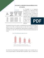Situación de Salud de La Mujer en Edad Fértil en El Ecuador