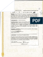 Registro Do Imóvel Fls. 1 - Frente
