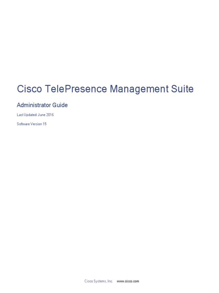 Cisco TMS Admin Guide 15 | Internet Information Services | Ip Address