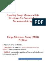 [Srinivasa Rao Satti] Range Minimum Query and Least Common Ancestor