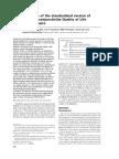 Validation of the Standardized Version of RQLQ Juniper1999