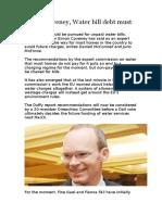 Simon Coveney, Water Bill Debt Must Be Paid