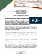 Compte Rendu Du Conseil Des Ministres - Mercredi 30 Novembre 2016