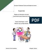 Proyecto Final - Comunicaciòn