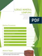 Contohn Proposal Eksplorasi Mineral Lempung