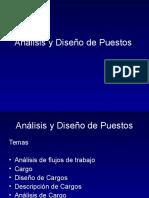 Diseno Y Analisis del Cargo