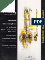 Claude Debussy - Rhapsodie pour orchestre et saxophone (Alto Saxophone & Piano).pdf