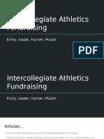 intercollegiate athletics fundraising