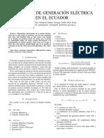 Centrales de Geneneración ELectrica Ecuador
