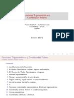 Funciones Trigonométricas y coordenadas polares