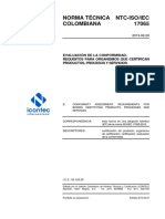 Ntc Iso Iec17065 Resumen