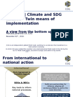 Climate and SDG Finance E3G
