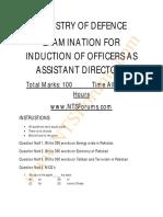 MOD AD Sample Paper 2014