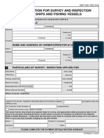 Applicant Survey and Inspection