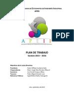 Plan de Trabajo APEII 2015 2016