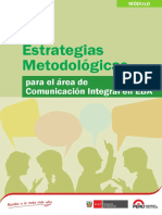 Estrategias Metodológicas Comunicación Integral EBA