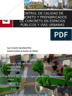 Qc Concreto y Prefabricados de Concreto en Espacios Públicos y Vías Urbanas