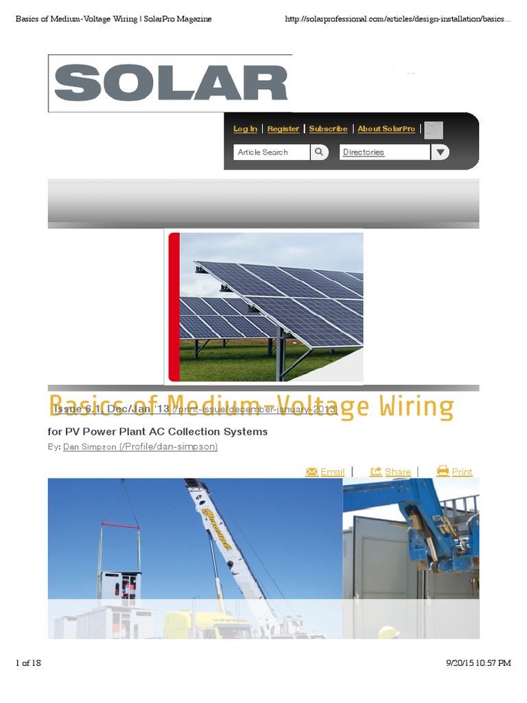 Basics of Medium-Voltage Wiring | SolarPro Magazine | Fuse (Electrical) |  Transformer