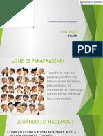 Parafraseo II