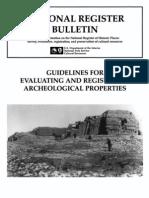 National Register Bulletin 36:Archaeological Properties