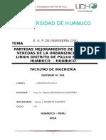 w1 Pistas y Veredas de La Urbanización Los Lirios Distrito de Pillco Marca .Doc