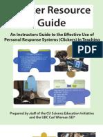Clicker Guide CWSEI CU-SEI