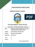 PRONUNCIAMIENTO DEL FISCAL CUANDO SE EVACUA EL INFORME POLICIAL