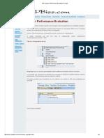 SAP Vendor Performance Evaluation Process
