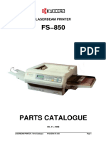 Kyocera FS-850 Parts Manual
