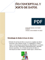 Diseño conceptual y logico de base de datos