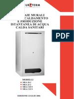 EUROTERM Scheda Tecnica Caldaia Murale a Gas MEA 20 25