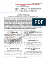 Engineering Impact Of Mango Nut Ash (MNA) on Black Cotton Soil as Highway Material