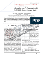 Pavement Condition Survey; A Compendium Of Distresses On NH 12 - Kota -Jhalawar India