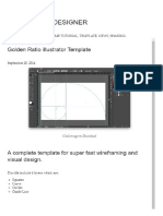 Golden Ratio Illustrator Template _ How to Be a Designer