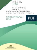 2016 - Dokumentation des Innovationspreises des Landes Baden-Württemberg 2016