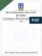 Codes - DNV RP-B401 - Cathodic Protection Design