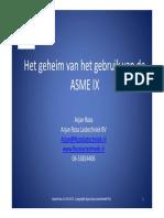 Presentatie ASME IX
