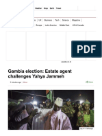 Gambia Election_ Estate Agent Challenges Yahya Jammeh - BBC News