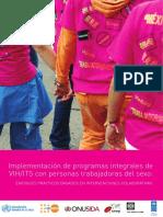Implementación de programas integrales de VIH/ITS con personas trabajadoras del sexo