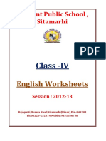 IV English-Worksheets Session 2012 2013