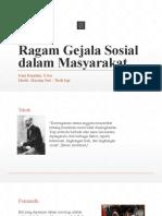 Ragam Gejala Sosial Dalam Masyarakat