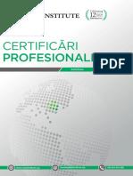 Certificari Profesionale