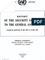 Report of SC to GA 16 July 1947 - 15 July 1948