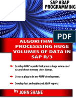 Sap Abap Algorithm for Processing Huge Volumes of Data in Sap R3 - John Shane