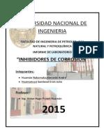 Informe de Corrosión - Inhibidores de Corrosión ; Huamán - Huamancusi
