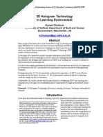 3D Hologram Technology.pdf